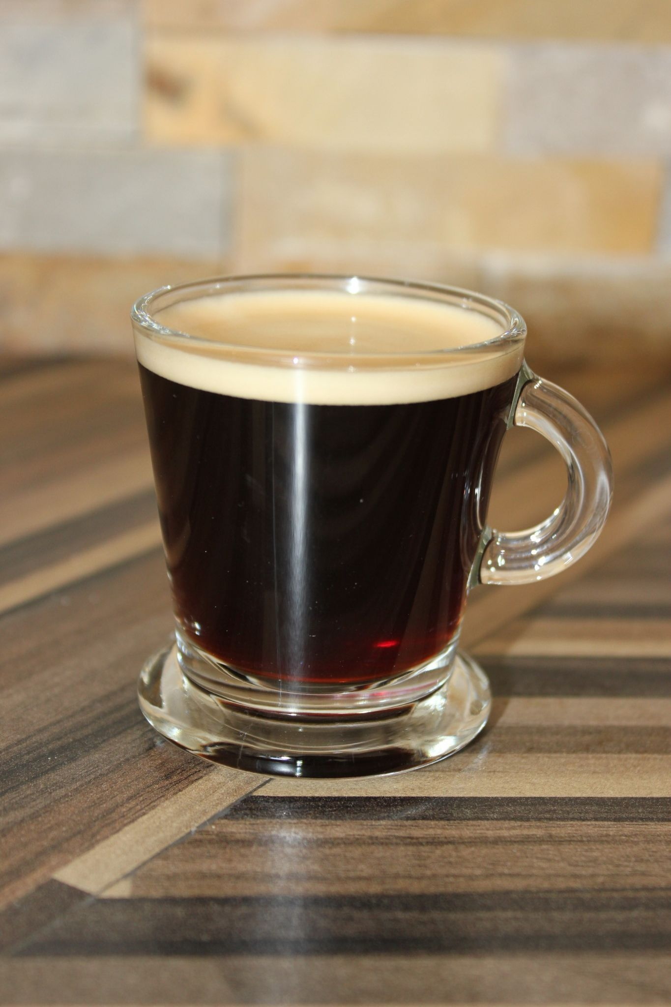 Clear Glass Espresso Coffee Cups Capacity 80ml Set Of 6